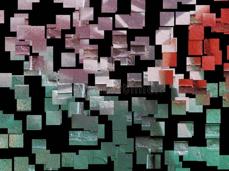 Struttura di superficie dipinta variopinta fotografie stock libere da diritti