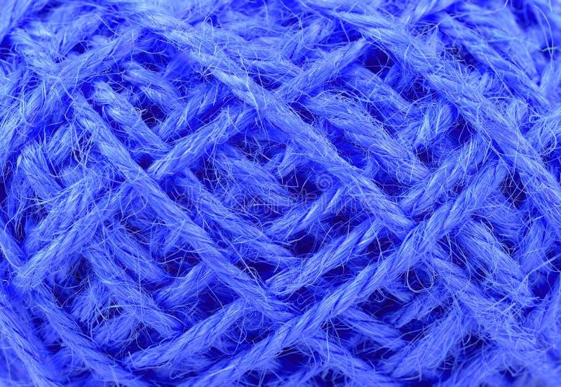 Struttura di tela della corda filo nella fine della bugna su fotografia stock libera da diritti