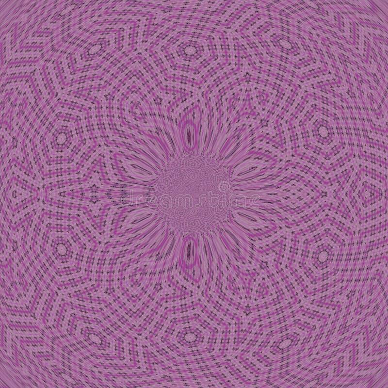 Struttura di tela della fibra della tela di sacco viola della mandala illustrazione di stock