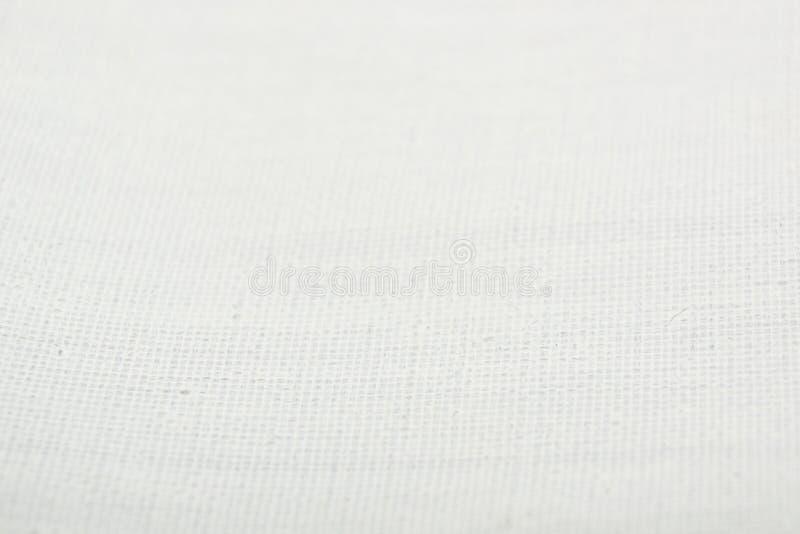 Struttura di tela innescata bianco fotografia stock