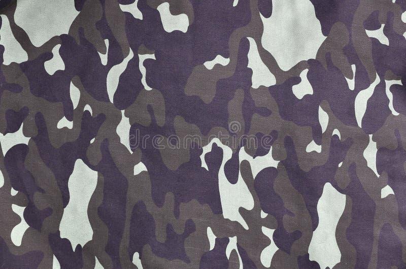 Struttura di tessuto con un cammuffamento dipinto a colori della palude Immagine di sfondo dell'esercito Modello del tessuto del  immagini stock libere da diritti