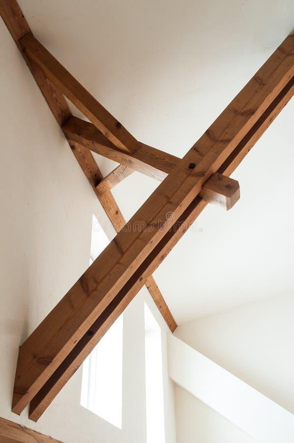 Struttura di tetto di legno fotografia stock