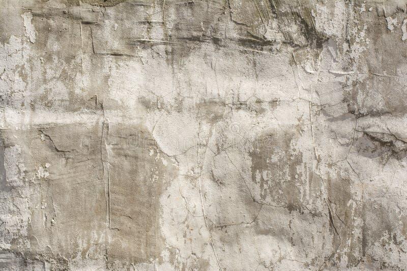 Struttura di un muro di cemento antico impresso con le crepe e uno strato protettivo rovinato - Crepe nelle piastrelle del pavimento ...
