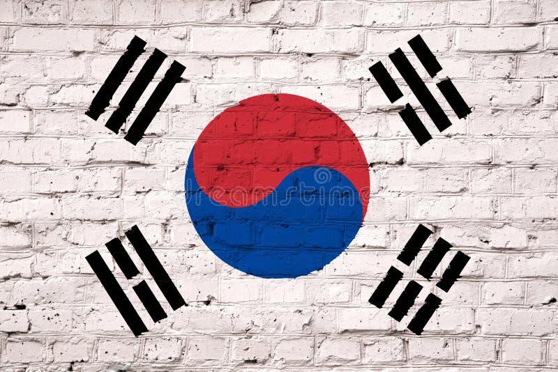 Struttura di una bandiera della Corea del Sud illustrazione vettoriale