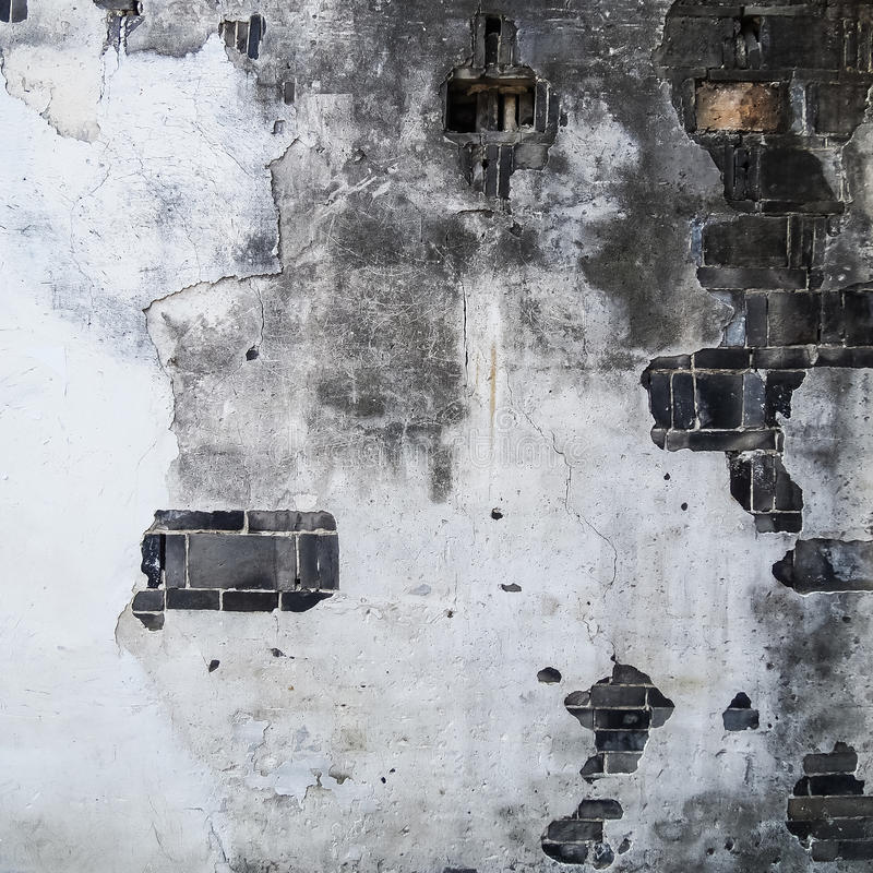 Struttura di vecchi muro di cemento e mattone del cemento immagine stock