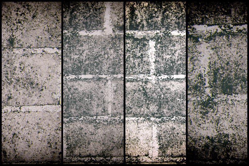 Struttura di vecchia costruzione d'annata, concetto del mattone di tecnica di lerciume di progetto fotografia stock