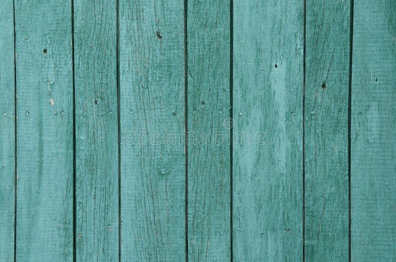 Struttura di vecchio fondo verde dei bordi di legno fotografia stock libera da diritti