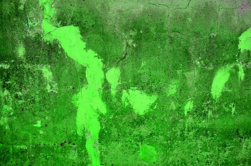 Struttura di vecchio muro di cemento nel colore verde di elaborazione elettronica immagine stock