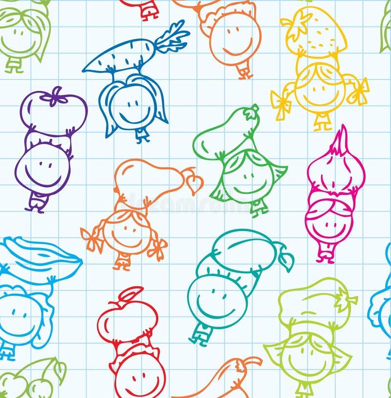 Struttura di verdure dei bambini illustrazione di stock