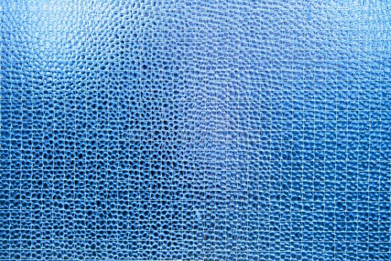 Struttura di vetro blu fotografia stock