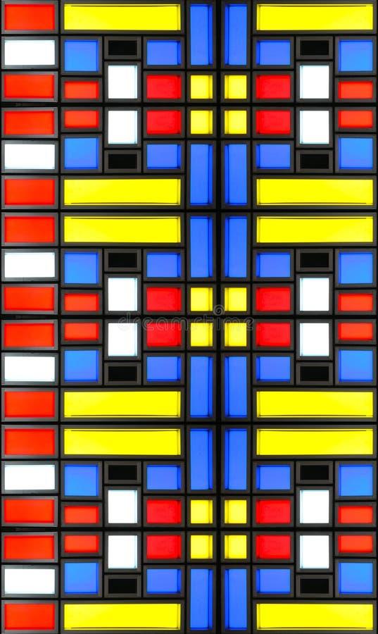 Struttura di vetro di Mondrian immagini stock libere da diritti