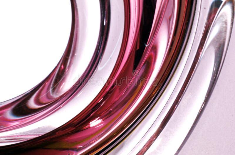 Struttura di vetro torta striata rossa fotografia stock libera da diritti