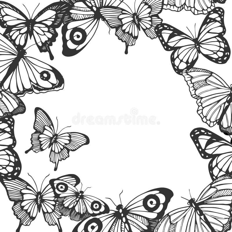 Struttura differente delle farfalle royalty illustrazione gratis