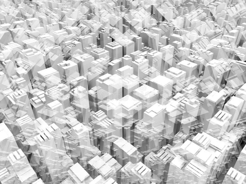 Struttura digitale geometrica astratta del fondo 3d illustrazione di stock