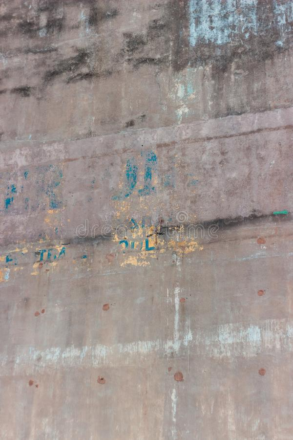 Struttura dilapidata del muro di cemento, Aberdeen fotografie stock libere da diritti