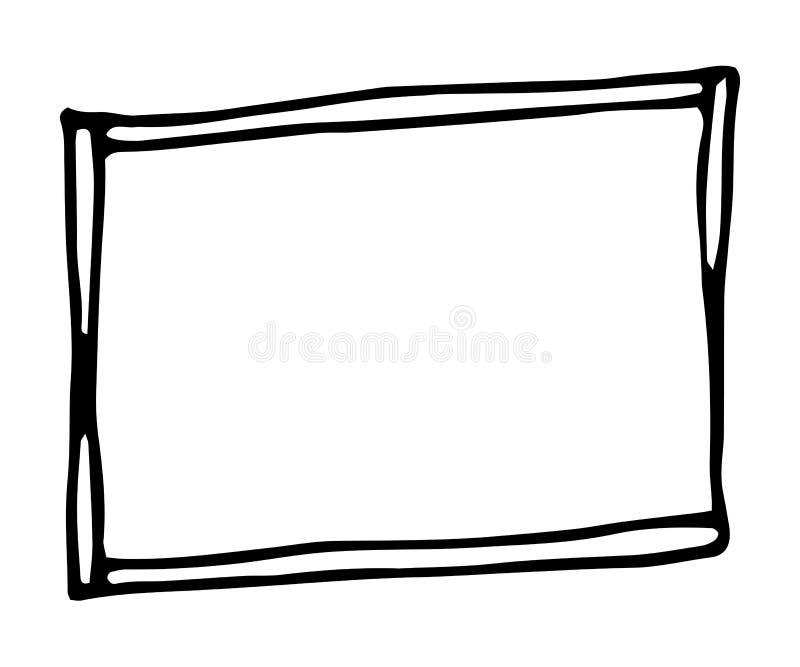 Struttura disegnata a mano di rettangolo royalty illustrazione gratis