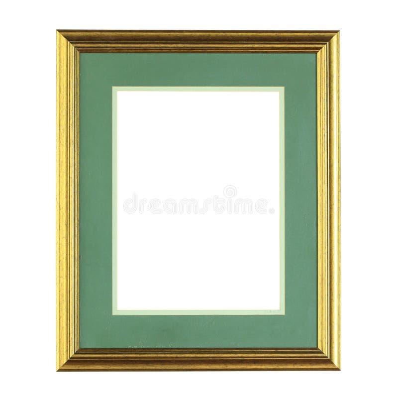 Struttura dorata della foto isolata immagine stock