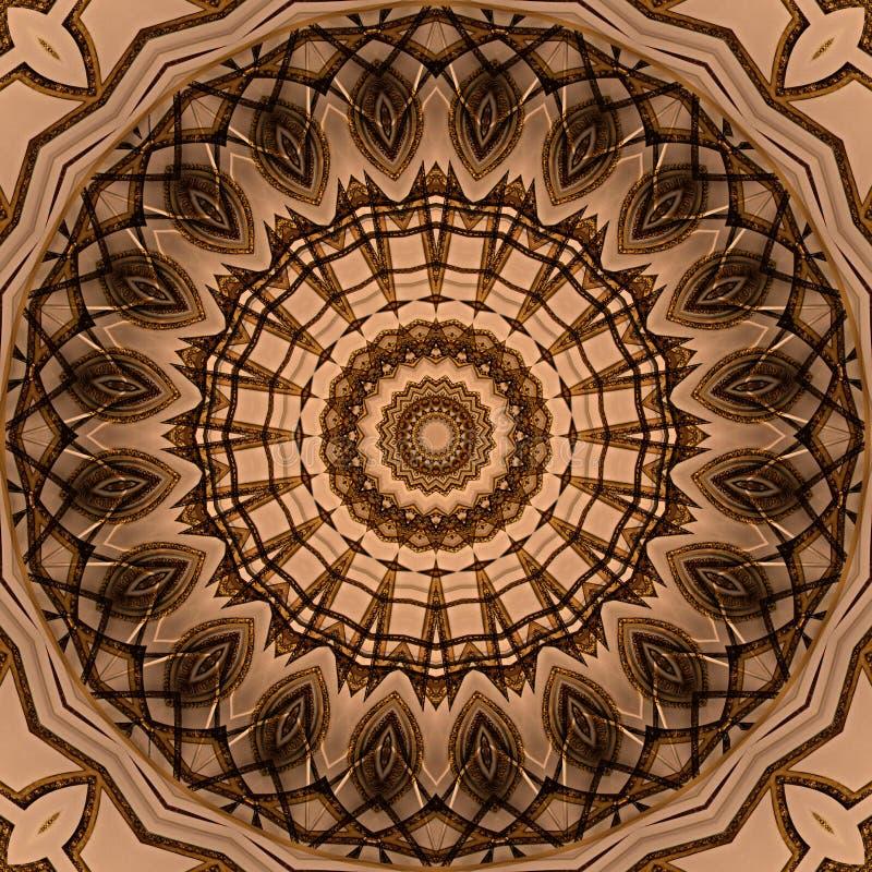 Struttura dorata della stella di progettazione di arte di Digital royalty illustrazione gratis