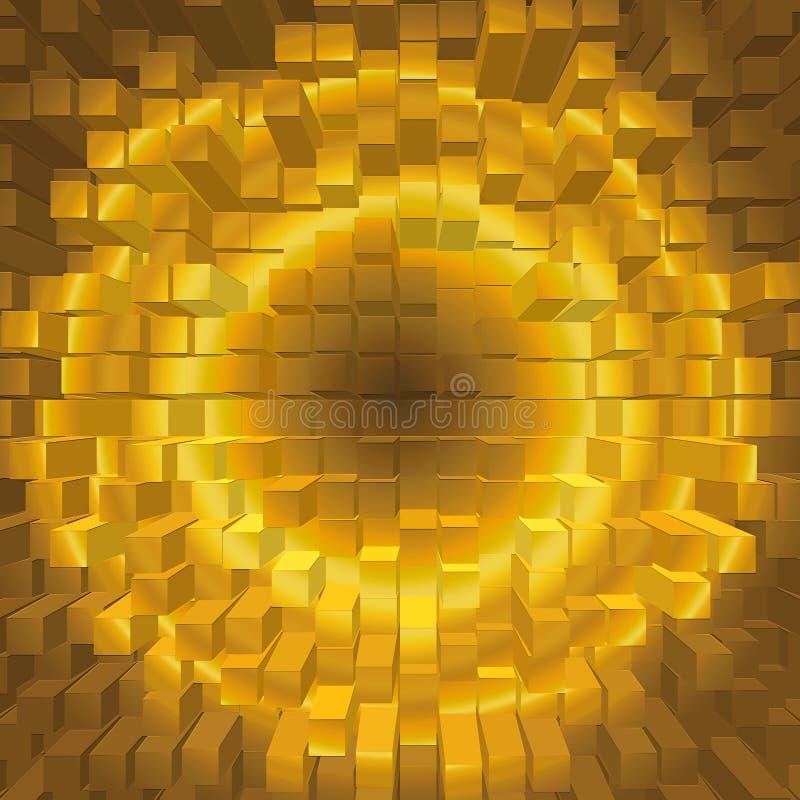 Struttura dorata di pendenza geometrica astratta fotografia stock