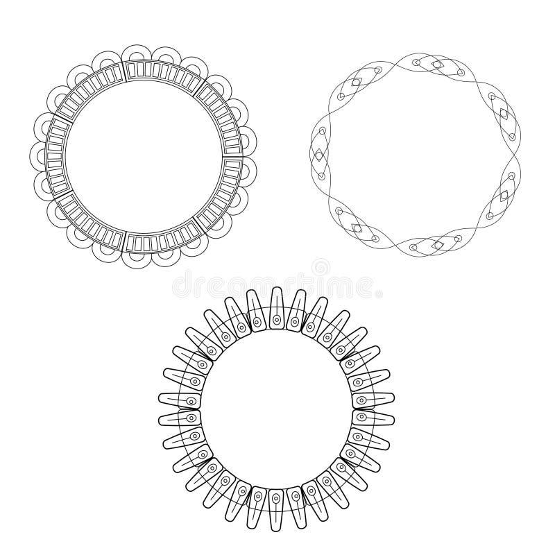 Struttura ed etichetta in bianco e nero royalty illustrazione gratis