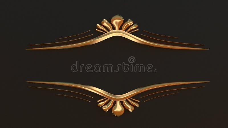Struttura elegante dell'oro per il vostro testo Lo stile classico 3D rende illustrazione vettoriale