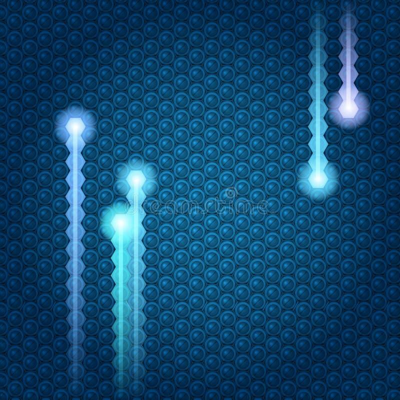 Struttura elettrica di Techno. royalty illustrazione gratis