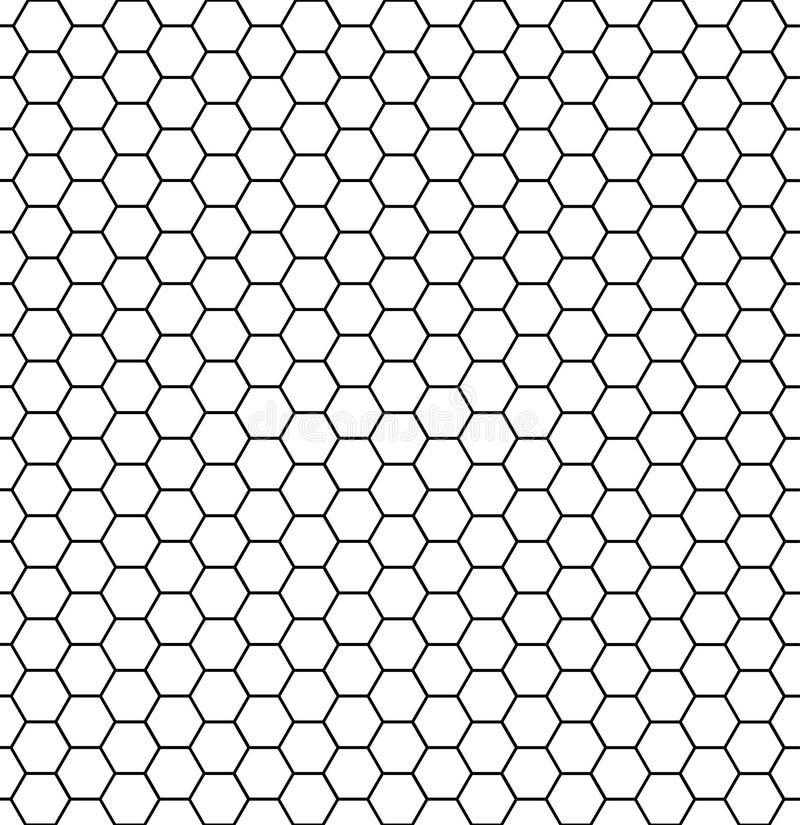 Struttura esagonale delle cellule Cellule di esagono del miele, struttura melliflua della griglia di griglia del pettine e favi d illustrazione di stock