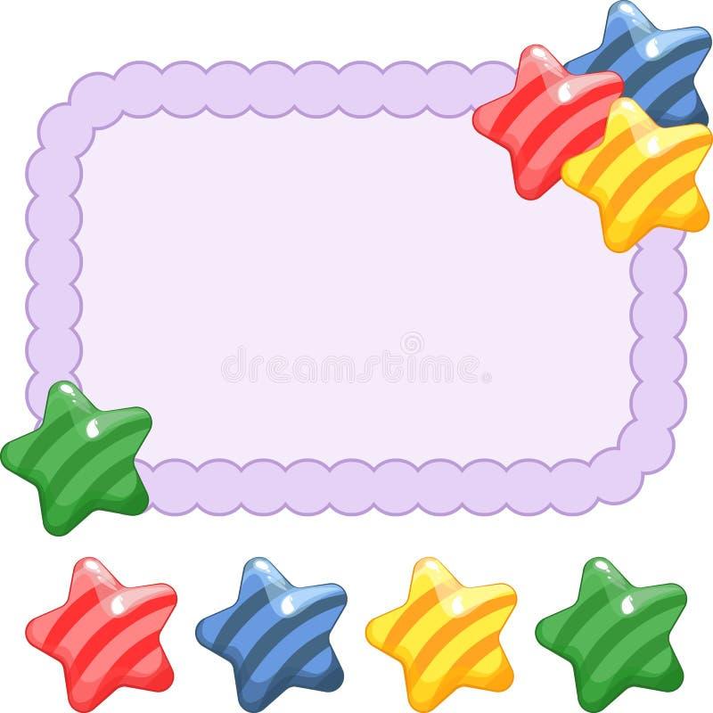 Struttura festiva con la caramella Illustrazione luminosa di vettore royalty illustrazione gratis
