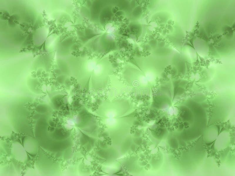 Struttura fiorita verde morbida illustrazione di stock