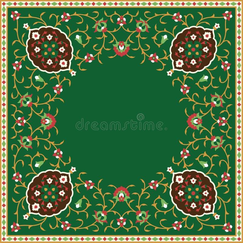 Struttura floreale araba Progettazione islamica tradizionale royalty illustrazione gratis