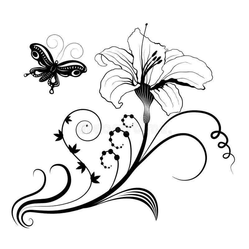 Struttura floreale astratta per progettazione. royalty illustrazione gratis