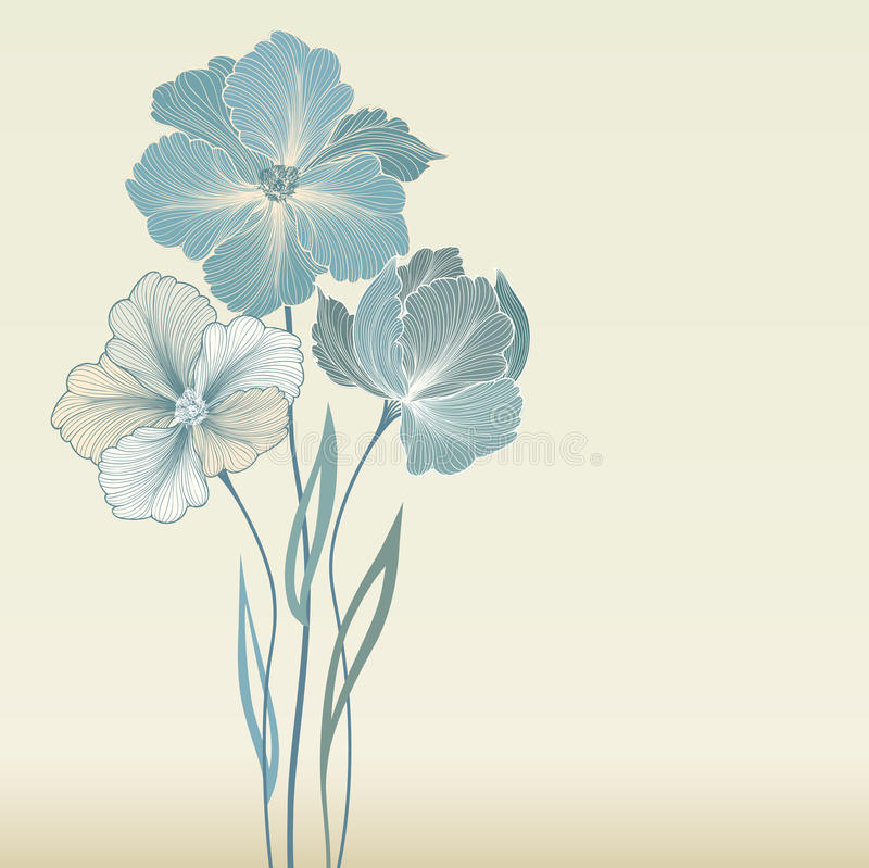 Struttura floreale con i fiori di estate Mazzo floreale con il wildflower royalty illustrazione gratis