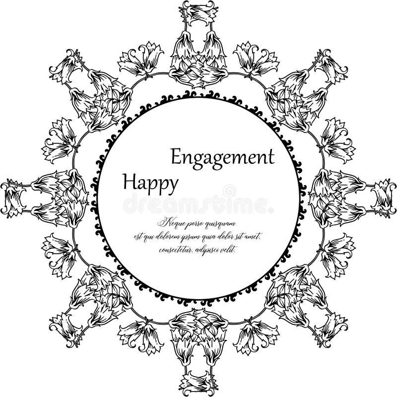 Struttura floreale d'annata, per la carta da parati dell'impegno felice Vettore illustrazione di stock