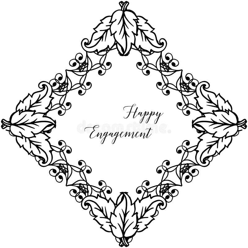 Struttura floreale d'annata, per la carta da parati dell'impegno felice Vettore illustrazione vettoriale