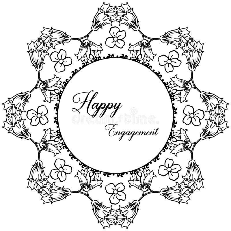 Struttura floreale d'annata, per la carta da parati dell'impegno felice Vettore royalty illustrazione gratis