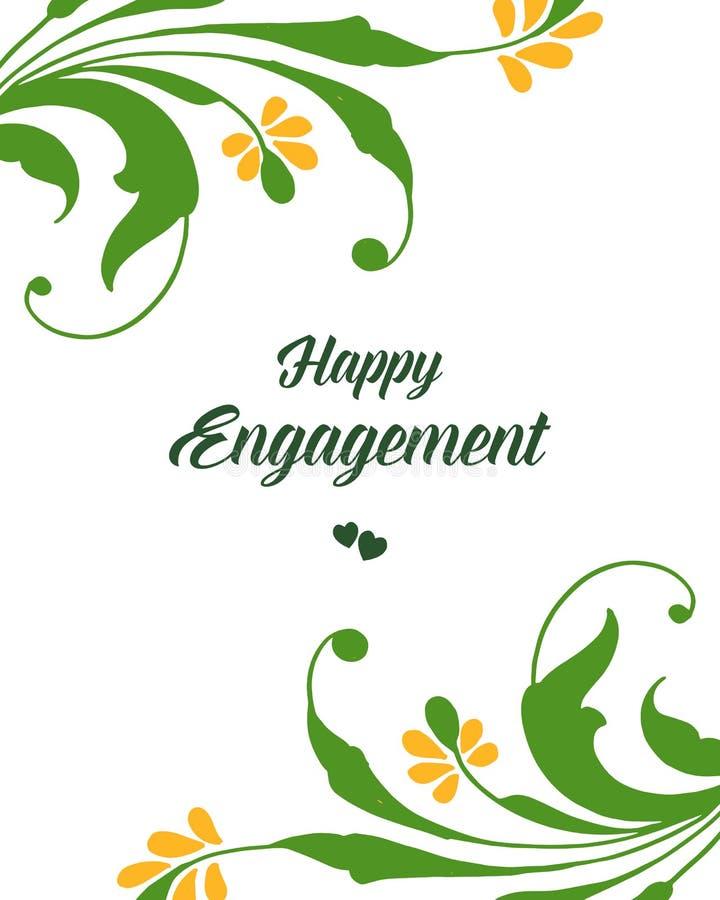 Struttura floreale della foglia di verde dell'illustrazione di vettore per la celebrazione dell'impegno felice illustrazione vettoriale