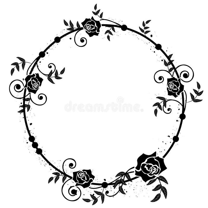 Struttura floreale delle rose illustrazione di stock