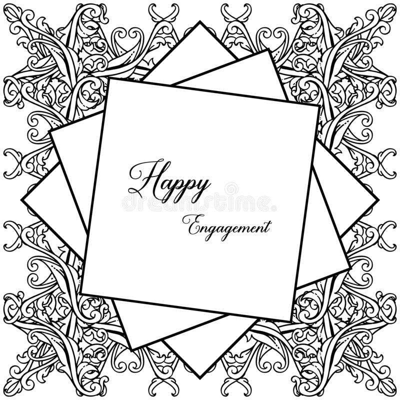 Struttura floreale di progettazione, bello fiore e foglia, per l'impegno felice della carta Vettore illustrazione di stock
