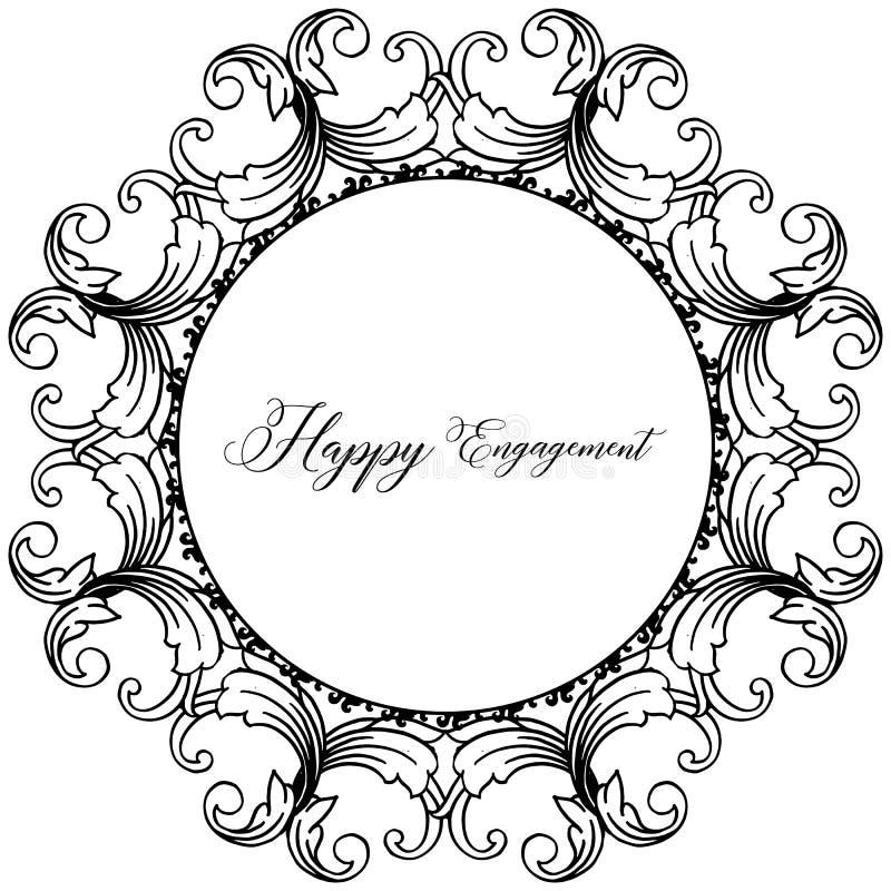 Struttura floreale di progettazione, bello fiore e foglia, per l'impegno felice della carta Vettore royalty illustrazione gratis