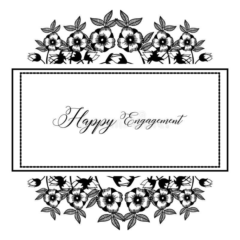 Struttura floreale elegante di stile, invito, impegno felice della cartolina d'auguri Vettore illustrazione di stock