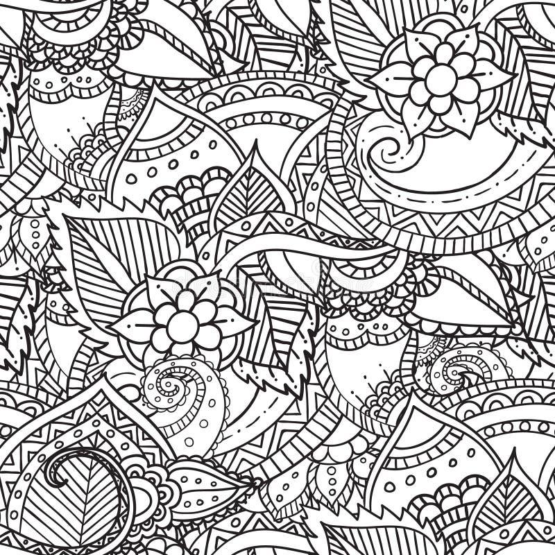 Struttura floreale modellata ornamentale etnico artistico disegnato a mano royalty illustrazione gratis
