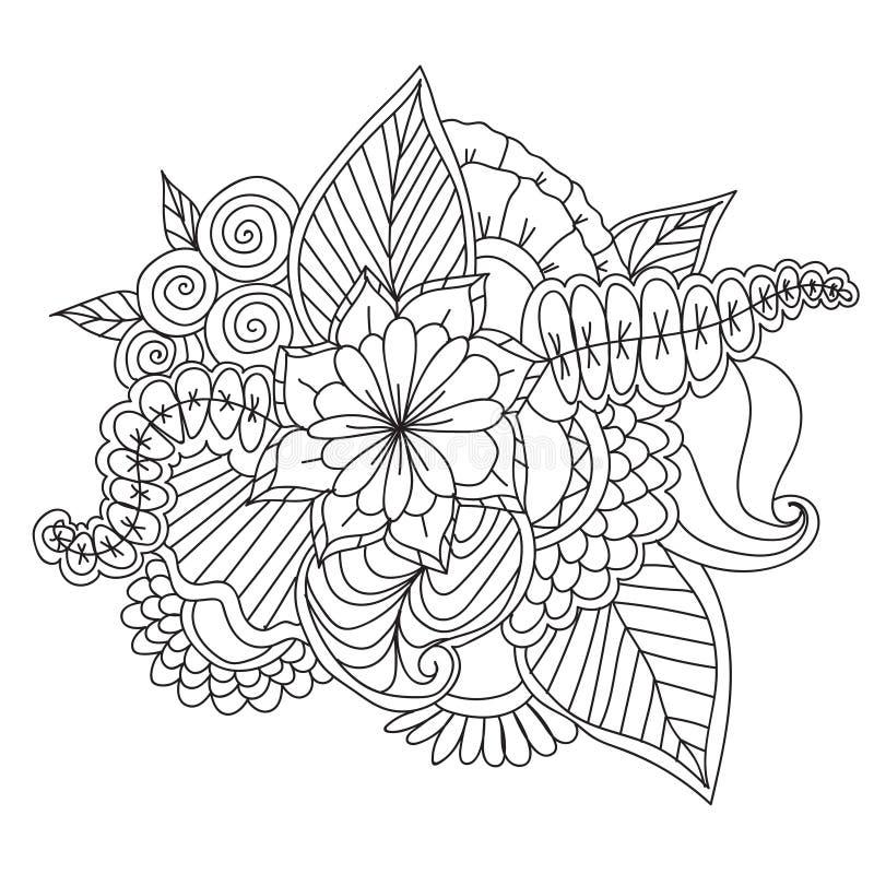 Struttura floreale modellata ornamentale etnico disegnato a mano royalty illustrazione gratis