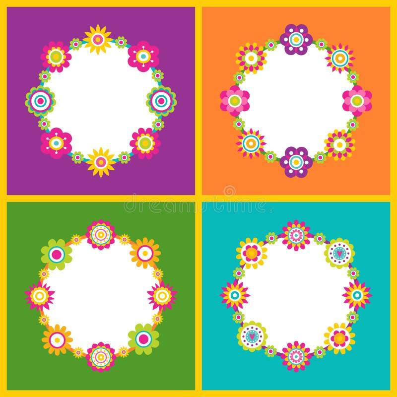 Struttura floreale nella forma di illustrazione di vettore del cerchio illustrazione vettoriale