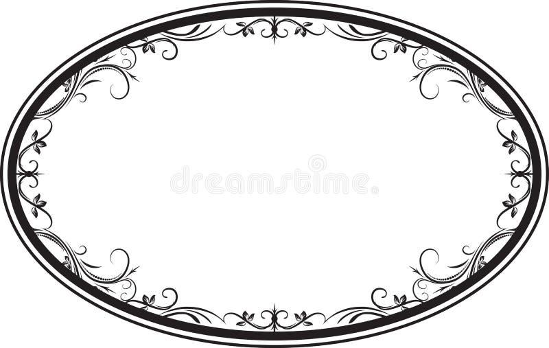 Struttura floreale ovale decorativa con le foglie per la vostra progettazione illustrazione vettoriale