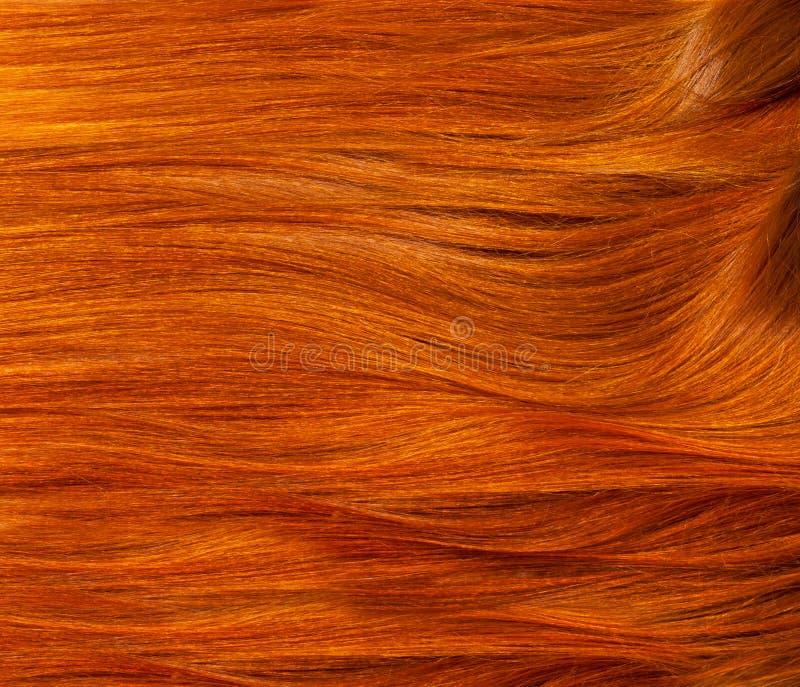 Struttura, fondo colore rosso dei capelli umani fotografie stock libere da diritti