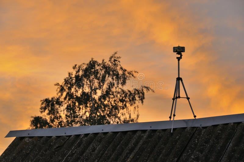 Struttura, fondo, modello Il cielo ? al tramonto, l'alba Nuvole colorate, rosse, arancia, colori pastelli Cielo pastello romantic immagine stock libera da diritti