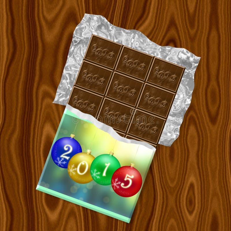 Struttura generata cioccolato del nuovo anno 2015 royalty illustrazione gratis