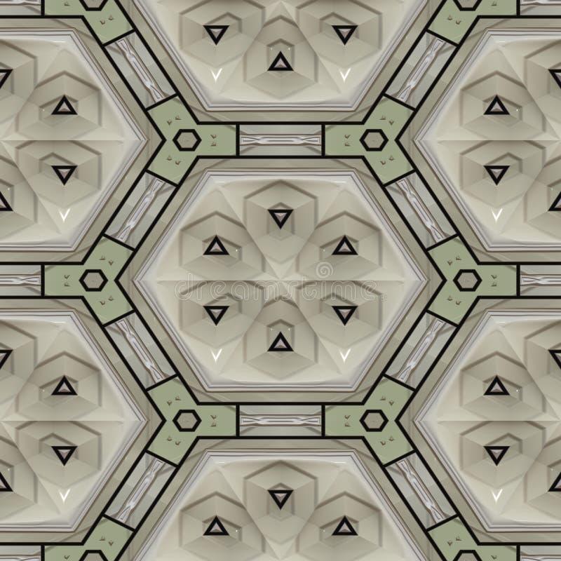 Struttura generata del modello in rilievo illustrazione vettoriale