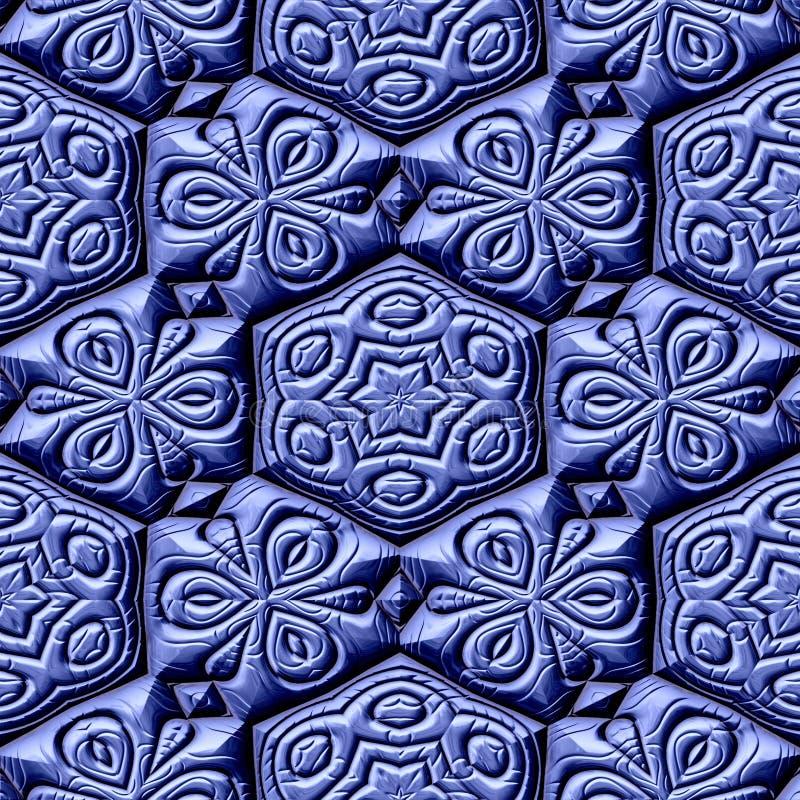 Struttura generata noleggi senza cuciture maya degli ornamenti royalty illustrazione gratis