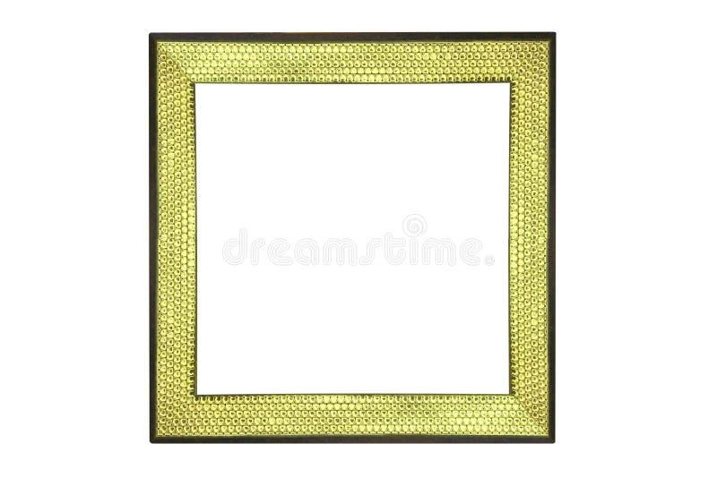 Struttura gialla come le squame con il bordo nero fotografia stock